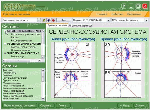 GDV Screening (ГРВ скрининг) - программа для прибора ГРВ
